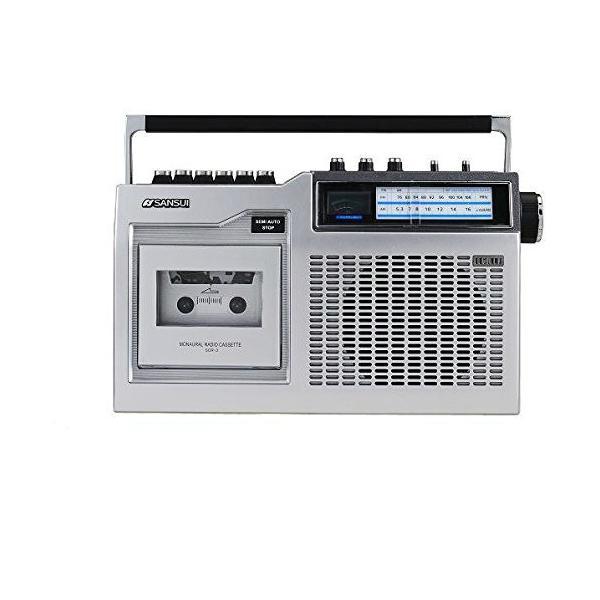SANSUI ラジカセ | SCR-3 | モノラルラジオカセット | パワーVUメーター搭載 2電源方式 | サンスイ 1年保証|i-shop-sakura|02