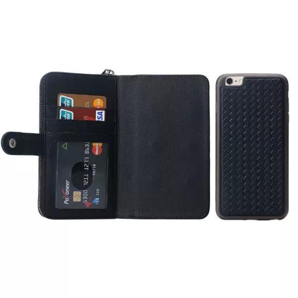 スマホケース iphone8 plus iphone7 plus iphone6 plus スマホカバー アイフォン ケース i Phone アイホン GALAXY 財布 手帳型 編み込み カード ファスナー 小銭|iah-rare-case-shop|04