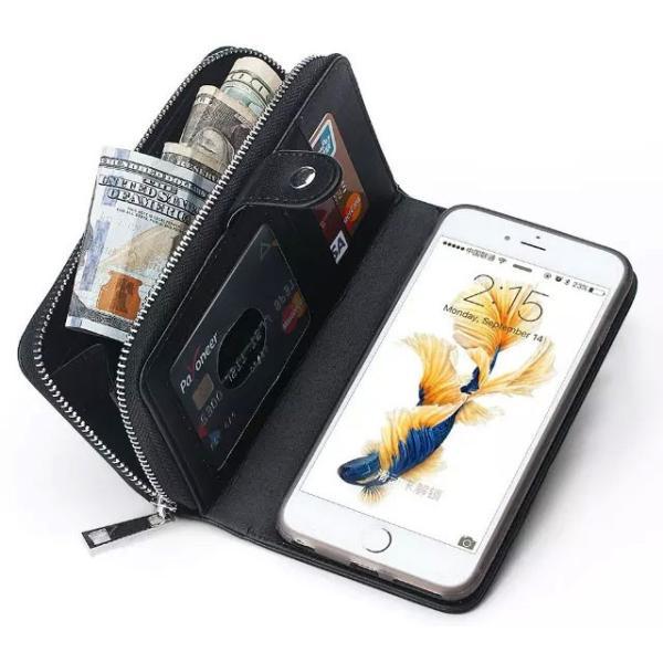 スマホケース iphone8 plus iphone7 plus iphone6 plus スマホカバー アイフォン ケース i Phone アイホン GALAXY 財布 手帳型 編み込み カード ファスナー 小銭|iah-rare-case-shop|05