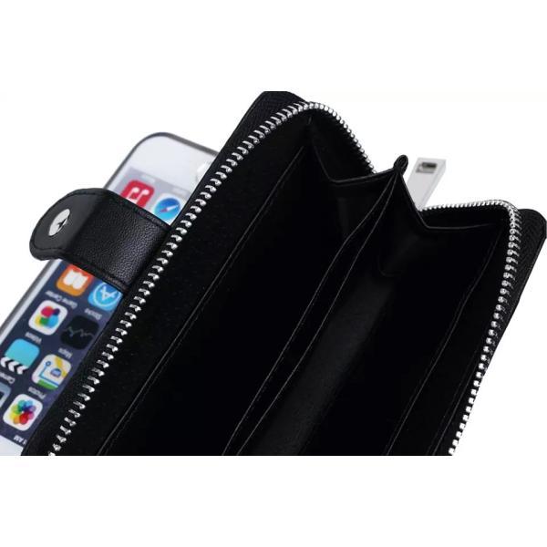 スマホケース iphone8 plus iphone7 plus iphone6 plus スマホカバー アイフォン ケース i Phone アイホン GALAXY 財布 手帳型 編み込み カード ファスナー 小銭|iah-rare-case-shop|06