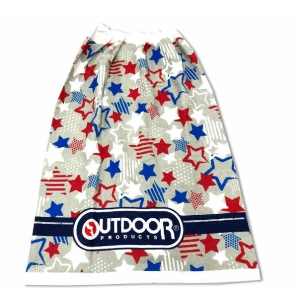 80cm丈 巻きタオル  OUTDOOR(アウトドア) 大判 ラップタオル 巻きタオル 水泳 プール スイミング 80×120cm マルチボーダー 綿100%