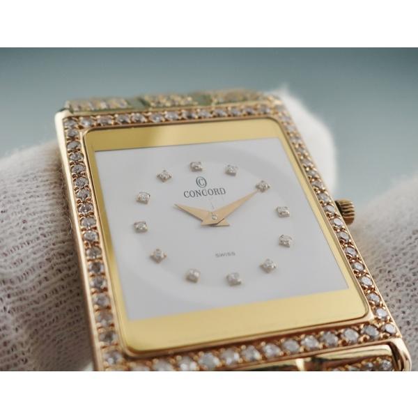 3年保証 コンコルド 時計 K18YG無垢 全面ダイヤ デリリューム 50.20.617 クォーツ 2405001156271中古