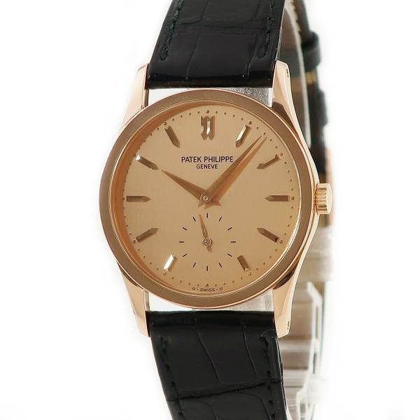 パテックフィリップPATEKPHILIPPEカラトラバ3796RK18RG無垢メンズボーイズ腕時計手巻きゴールド中古
