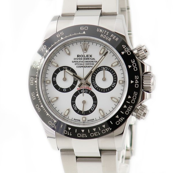 ロレックスROLEXデイトナクロノ116500LNランダム番白メンズ腕時計自動巻きホワイト中古
