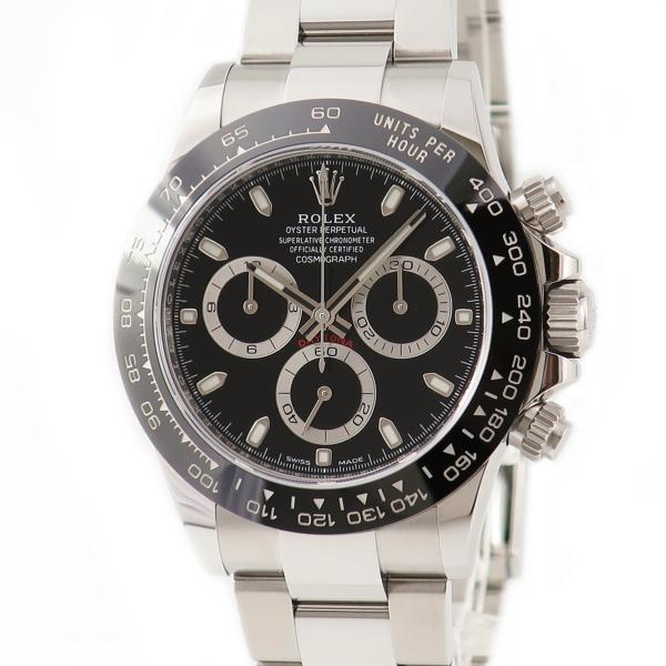 ロレックスROLEXデイトナクロノ116500LNランダム番黒メンズ腕時計自動巻きブラック中古