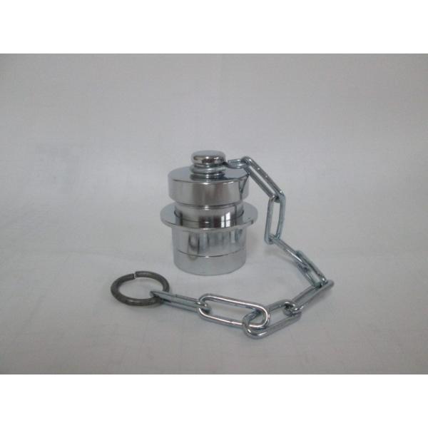 媒介金具 40A差込式オスキャップ (クローム)  DBK-M1C (消防・消火栓ホース継手)