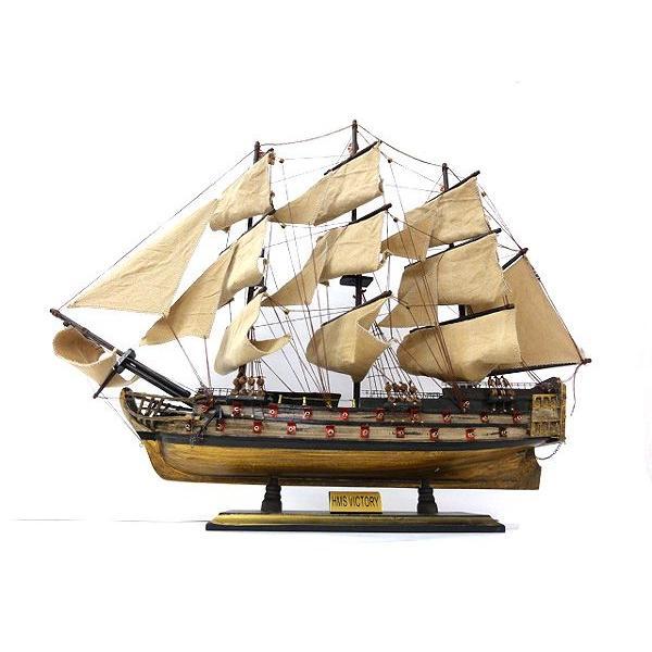 帆船模型木製 HMS ヴィクトリー 70センチ 完成品帆船模型プレゼント 代引き不可