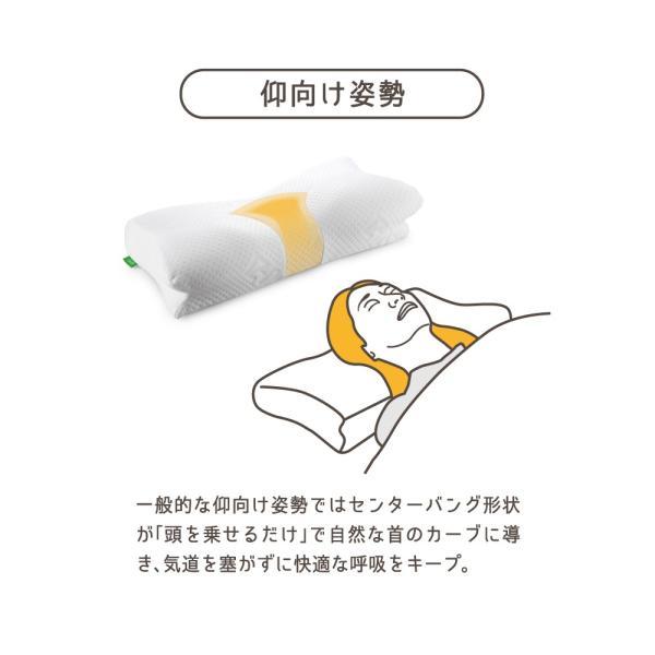 枕 まくら ピロー いびき防止 肩こり 首こり 対策 横向き 低反発 快眠 AS ibiki-kenkyujyo 14