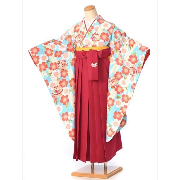 ジュニア女の子 小学校卒業袴セット8AR08 ibis