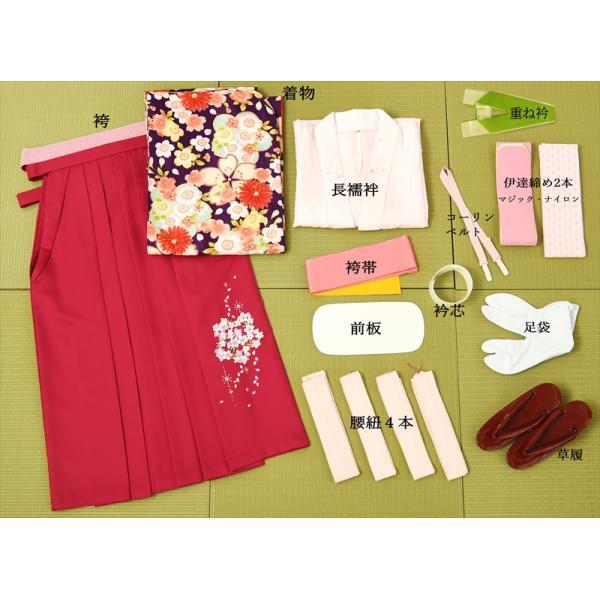ジュニア女の子 小学校卒業袴セット8AR08 ibis 07