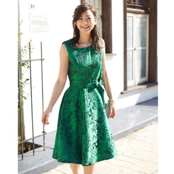 ジャガード フレア ワンピース パーティードレス 結婚式  ワンピース ドレス yimo16627 icecrystal 11