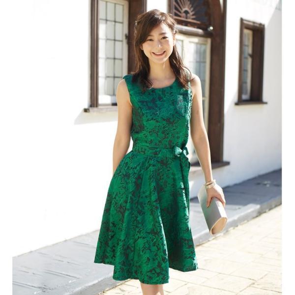 ジャガード フレア ワンピース パーティードレス 結婚式  ワンピース ドレス yimo16627 icecrystal 03