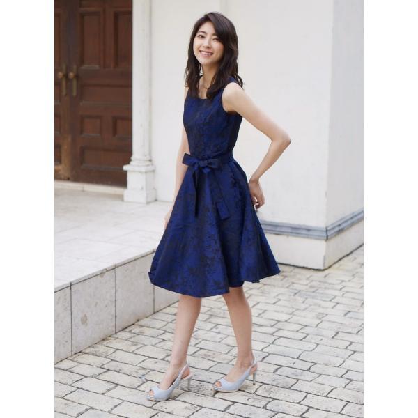 ジャガード フレア ワンピース パーティードレス 結婚式  ワンピース ドレス yimo16627 icecrystal 04