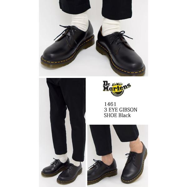 ドクターマーチン ブーツ Dr.Martens 3ホール レディース & メンズ 1461 3アイ ギブソン シューズ ブラック(3 EYE GIBSON SHOE R11838002)|icefield|02