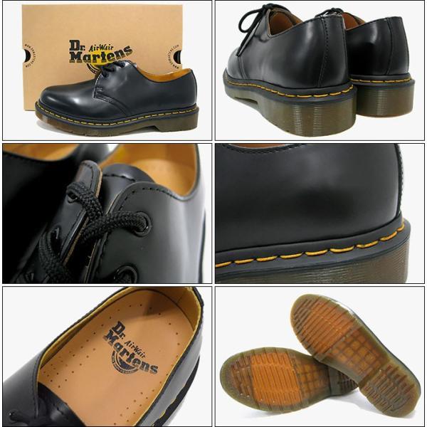 ドクターマーチン ブーツ Dr.Martens 3ホール レディース & メンズ 1461 3アイ ギブソン シューズ ブラック(3 EYE GIBSON SHOE R11838002)|icefield|03