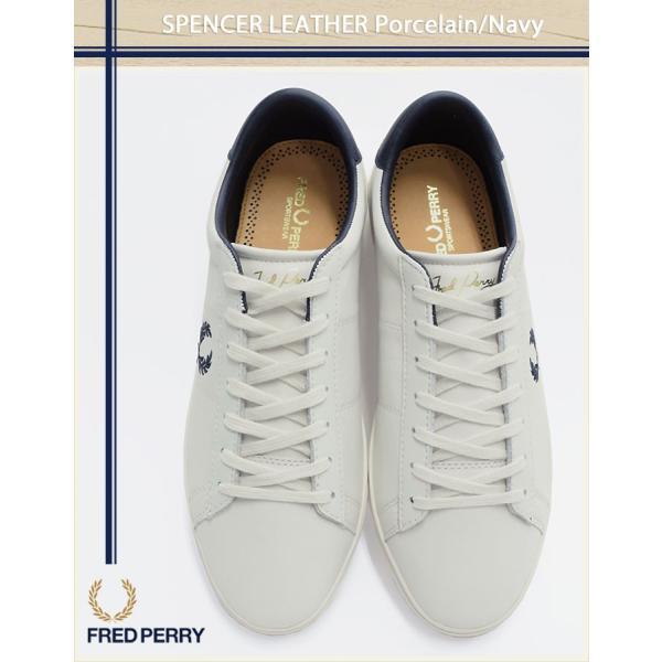 ... フレッドペリー FRED PERRY スニーカー メンズ 男性用 スペンサー レザー Porcelain Navy(FREDPERRY  B7521U ... e2f5665a12