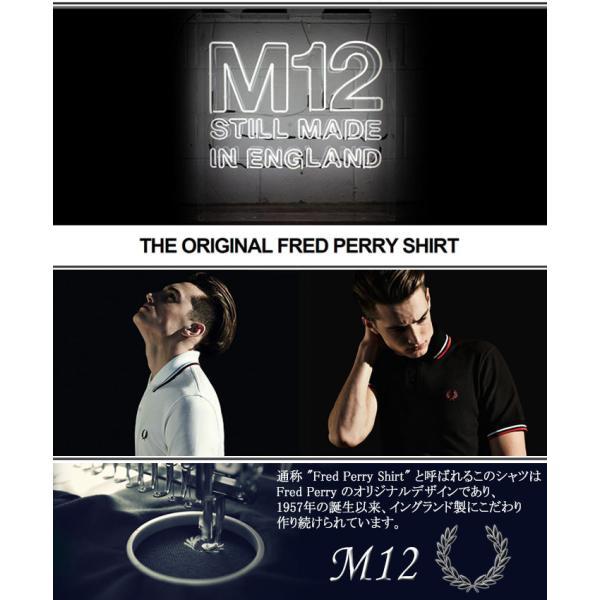 フレッドペリー ポロシャツ 英国製 半袖 FRED PERRY メンズ M12N イングランド フレッド ペリー ポロ 男性用(イギリス製 鹿の子 Polo)|icefield|02