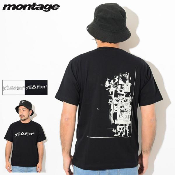 モンタージュ Tシャツ 半袖 montage メンズ トラッシャー アキュムレーション(Trasher Accumulation S/S Tee カットソー トップス MT-T015)|icefield