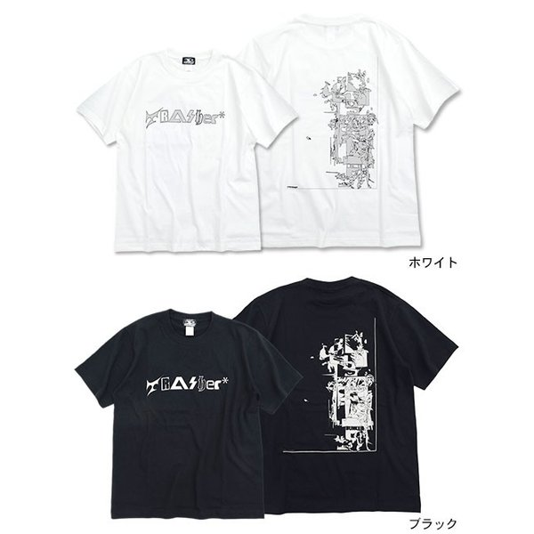 モンタージュ Tシャツ 半袖 montage メンズ トラッシャー アキュムレーション(Trasher Accumulation S/S Tee カットソー トップス MT-T015)|icefield|02