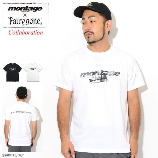 モンタージュ Tシャツ 半袖 montage メンズ フェアリーゴーン ノイズ ロゴ コラボ(Fairy gone Noize Logo S/S Tee カットソー MT-TFG02)|icefield