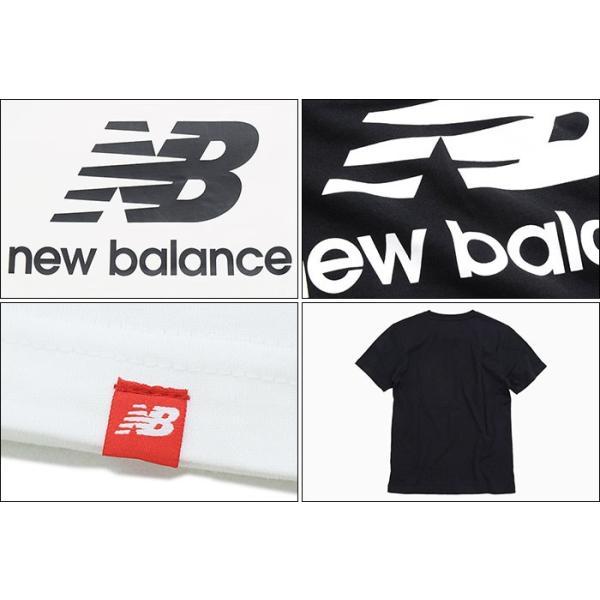 1e1cad1bb537d ... ニューバランス Tシャツ 半袖 new balance メンズ エッセンシャル スタックド ロゴ(Essential Stacked Logo  S/