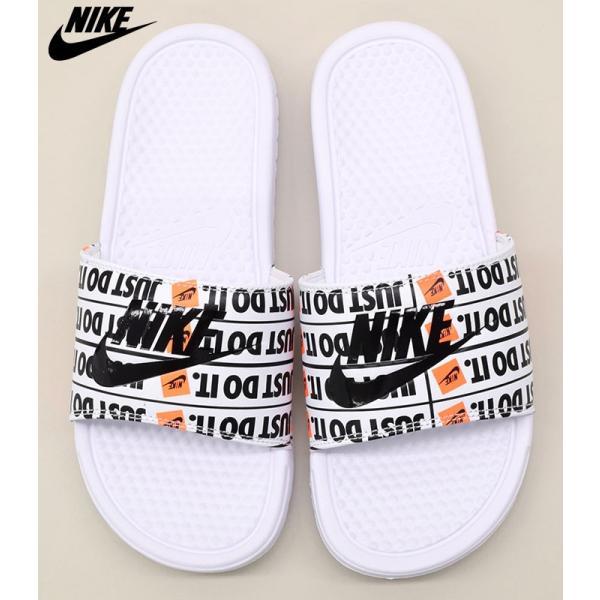 14622b8b7d93 Nike Benassi JDI Print   631261-102   Men Sandals Slides Just Do It White