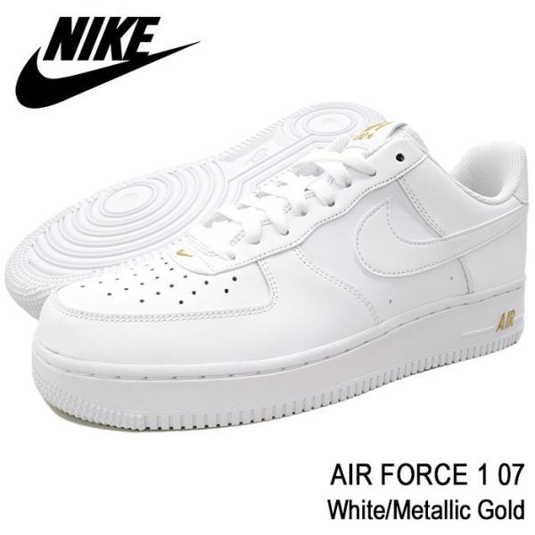 separation shoes 51898 4d649 ナイキ NIKE スニーカー メンズ 男性用 エア フォース 1 07 White Metallic Gold(nike ...