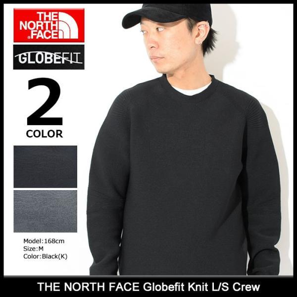 6066ccb09 ノースフェイス カットソー 長袖 THE NORTH FACE メンズ グローブフィット ニット(Globefit Knit L/S Crew  トップス NT11826)