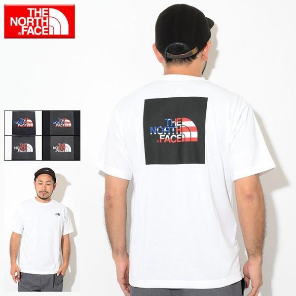 990d7eca9 ザ ノースフェイス Tシャツ 半袖 THE NORTH FACE メンズ ナショナル フラッグ スクエア ロゴ(National Flag  Square Logo S/S ...
