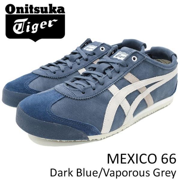 buy popular cccdd 74d6c オニツカタイガー スニーカー Onitsuka Tiger メンズ 男性用 メキシコ 66 Dark Blue/Vaporous  Grey(MEXICO 66 ブルー D832L-4990)