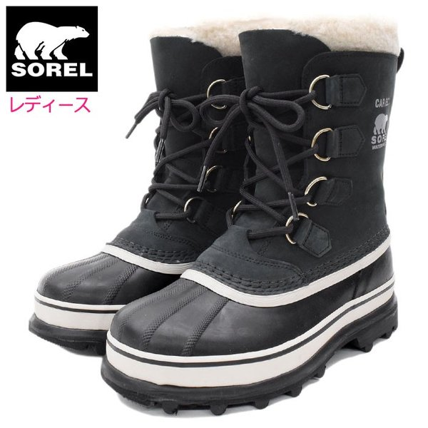 ソレル SOREL ブーツ レディース 女性用 カリブー Black/Stone ウィメンズ(Sorel CARIBOU WOMENS 防水 ブラック NL1005-011)|icefield