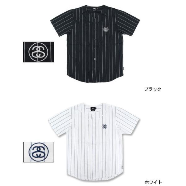 ステューシー STUSSY シャツ 半袖 メンズ Stripe Poplin Baseball(stussy shirt ベースボールシャツ トップス 男性用 111813)|icefield|02