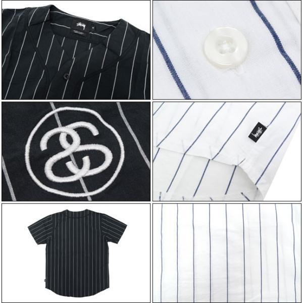 ステューシー STUSSY シャツ 半袖 メンズ Stripe Poplin Baseball(stussy shirt ベースボールシャツ トップス 男性用 111813)|icefield|03