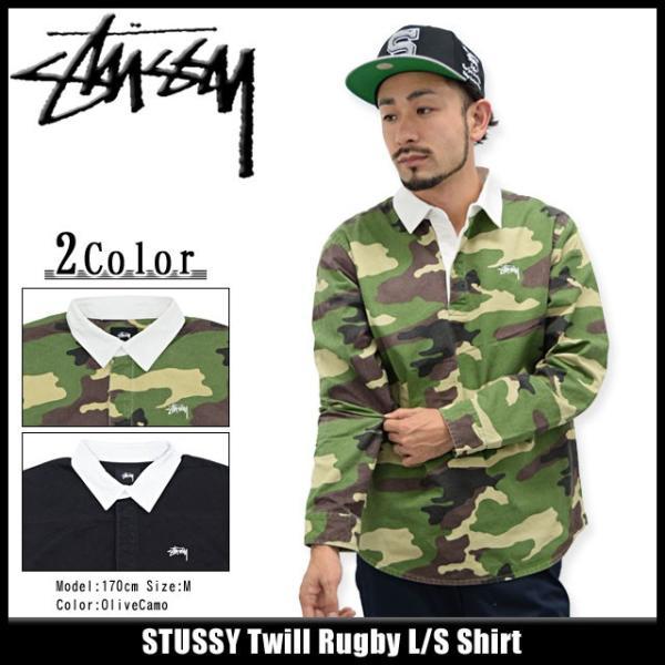 ステューシー STUSSY シャツ 長袖 メンズ Twill Rugby(stussy shirt ラガーシャツ ラグビーシャツ トップス メンズ・男性用 111826)|icefield