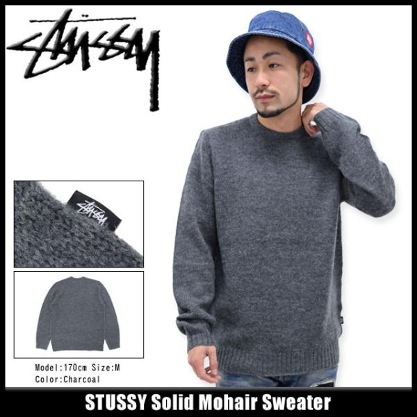 ステューシー STUSSY セーター メンズ Solid Mohair(stussy sweater ニット クルーネック トップス メンズ・男性用 117031)|icefield