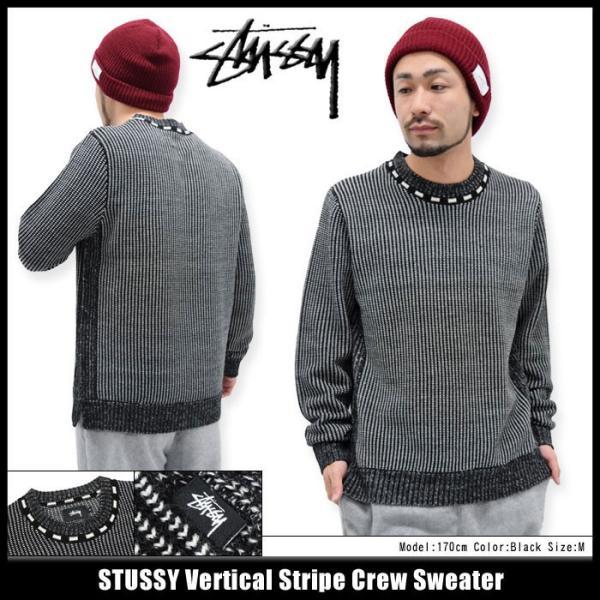 ステューシー STUSSY セーター メンズ Vertical Stripe Crew(stussy sweater ニット クルーネック トップス メンズ・男性用 117036)|icefield
