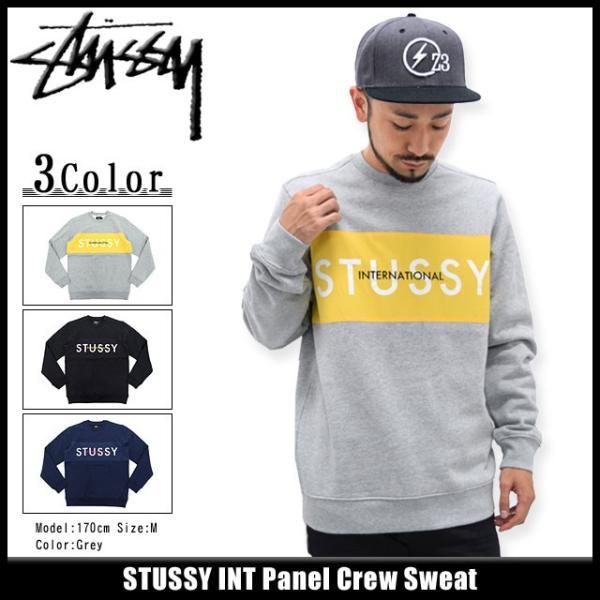 ステューシー STUSSY トレーナー メンズ INT Panel(stussy crew sweat スウェット トップス メンズ・男性用 トップス 118142)|icefield