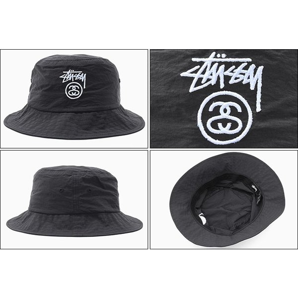 a8e37f11b9d ... ステューシー バケット ハット STUSSY Crushable Stock Lock Bucket Hat 帽子(stussyhat 男性用  132879 USA