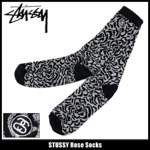 ステューシー STUSSY ソックス メンズ Rose(stussy crew socks クルーソックス 靴下 メンズ・男性用 138486 小物)|icefield