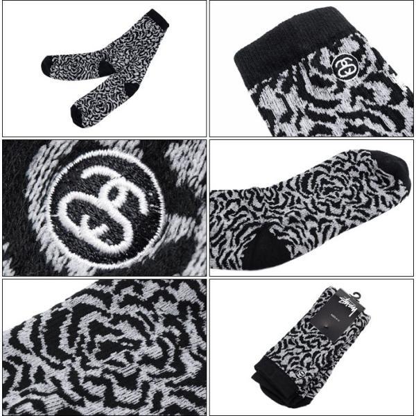 ステューシー STUSSY ソックス メンズ Rose(stussy crew socks クルーソックス 靴下 メンズ・男性用 138486 小物)|icefield|02