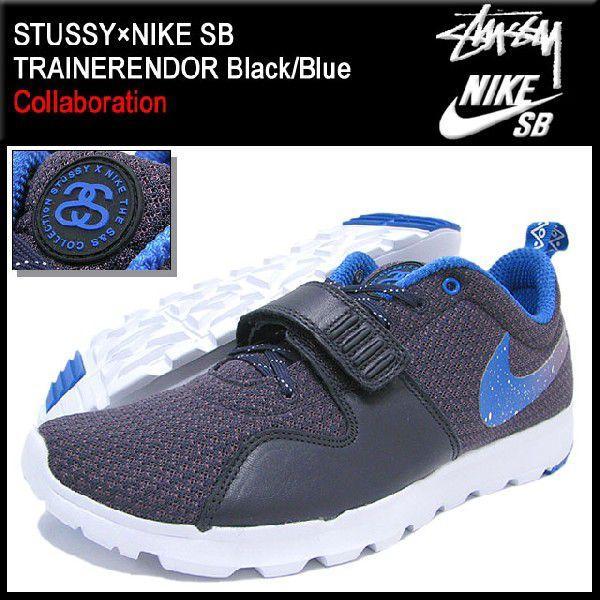ステューシー STUSSY×NIKE SB トレーナーエンドー Black/Blue コラボ メンズ(stussy×nike SB TRAINERENDOR ナイキ Wネーム 634928-560)|icefield