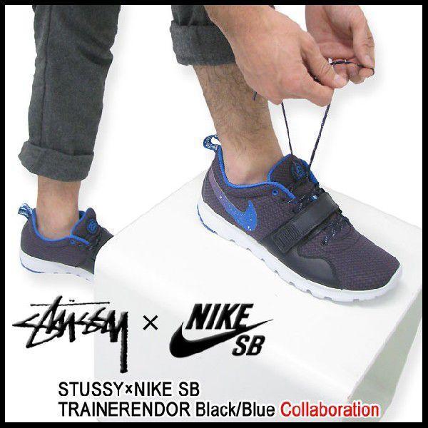 ステューシー STUSSY×NIKE SB トレーナーエンドー Black/Blue コラボ メンズ(stussy×nike SB TRAINERENDOR ナイキ Wネーム 634928-560)|icefield|02