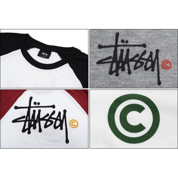 ステューシー STUSSY ラグラン 七分袖 Basic Logo(stussy raglan カットソー トップス メンズ・男性用 ベーシックロゴ 114861 114841)|icefield|04