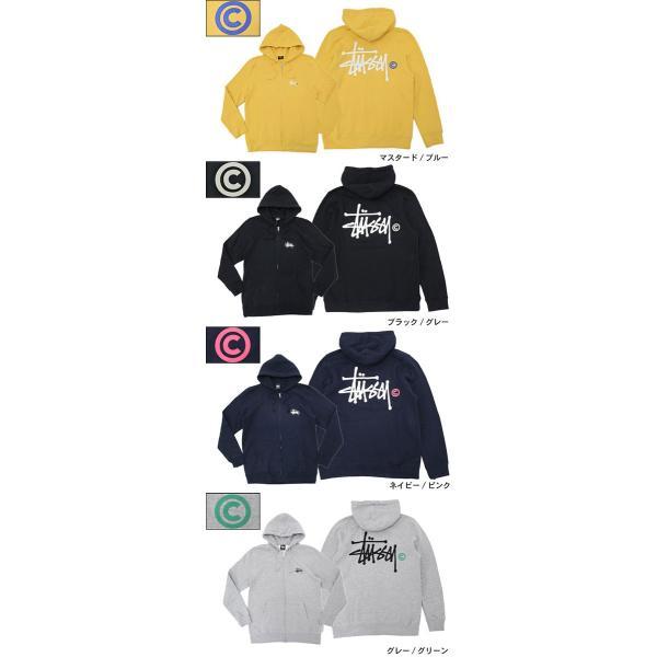 ステューシー STUSSY パーカー ジップアップ Basic Logo(stussy full zip hooded sweat トップス 男性用 1973778 1973712)|icefield|03