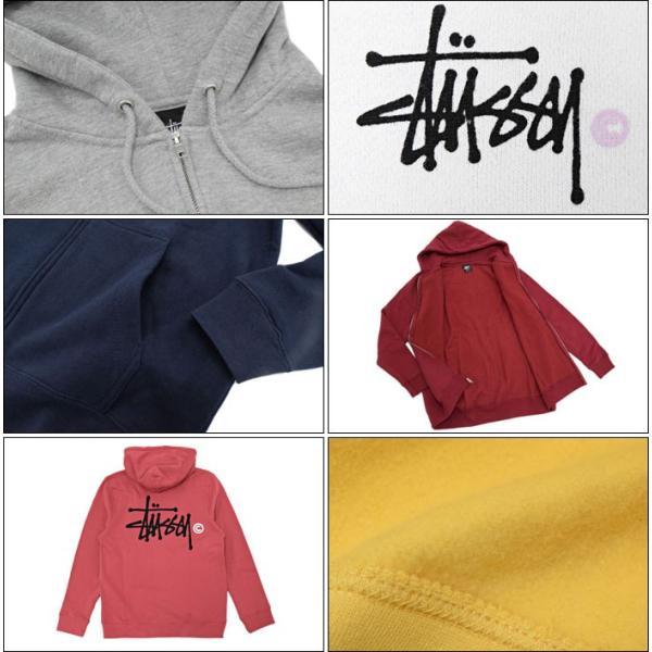 ステューシー STUSSY パーカー ジップアップ Basic Logo(stussy full zip hooded sweat トップス 男性用 1973778 1973712)|icefield|06