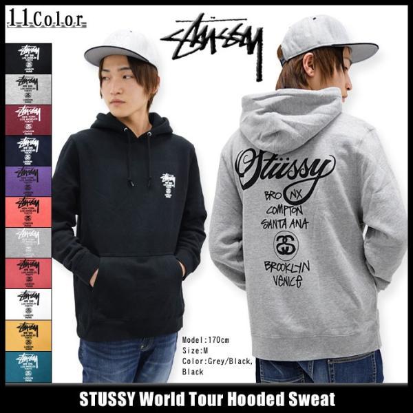ステューシー STUSSY プルオーバー パーカー World Tour(stussy hooded sweat トップス 男性用 ワールドツアー 1923688 1923817) icefield