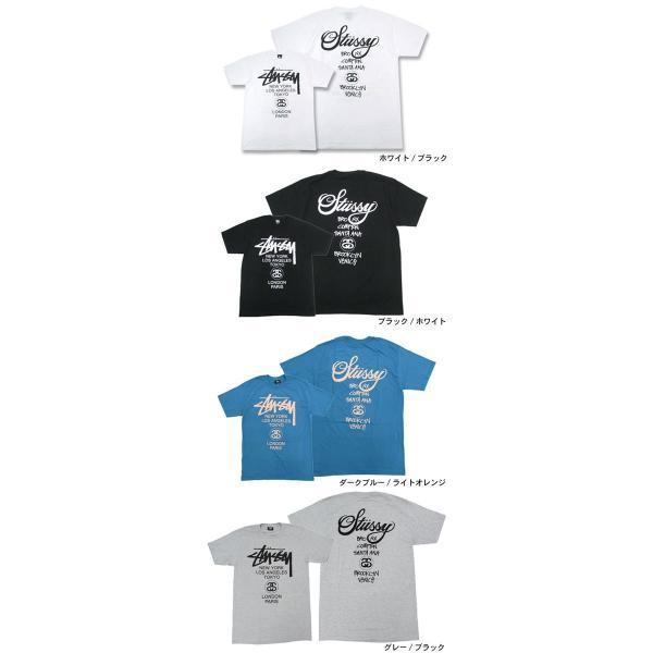 ステューシー STUSSY Tシャツ メンズ ワールドツアー 1903688 1903753 1903817|icefield|02