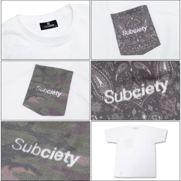 サブサエティ Subciety Tシャツ 半袖 メンズ パターンド ポケット(subciety サブサエティー Patterned Pocket S/S Tee トップス)|icefield|03