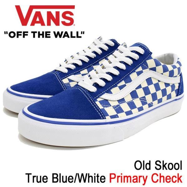 ac1cf4d3 バンズ VANS スニーカー メンズ 男性用 オールドスクール True Blue/White プライマリー チェック(VN-0A38G1P0U  Old Skool Primary Check)