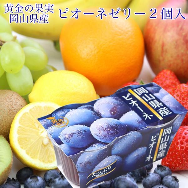 岡山県産 ピオーネ 国産 ゼリー 2連(2個入140g×2)果物 ギフト 手土産 プレゼント 母の日 父の日